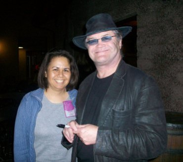 Backstage with Micky Dolenz after The Monkees concert on July 10, 2011.